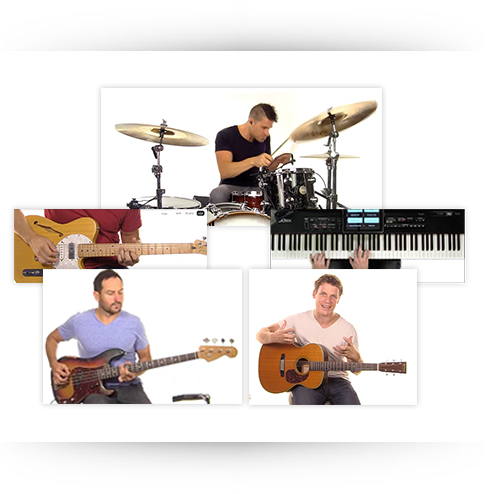 Worship Guitar, Drums, Bass and Keyboard Lesson Videos